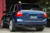 "[Porsche 957 Cayenne Exhaust Muffler]  Titanium floating curl tail & sand blast ""Ksg"" logo mark with Cat-back F1 Sound Valvetronic Exhaust System"