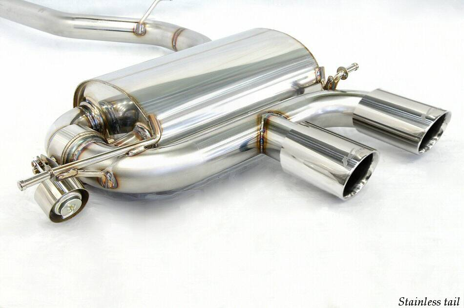 Photo1: [VW Golf R32 Exhaust Muffler] Cat-back F1 sound Valvetronic Exhaust System