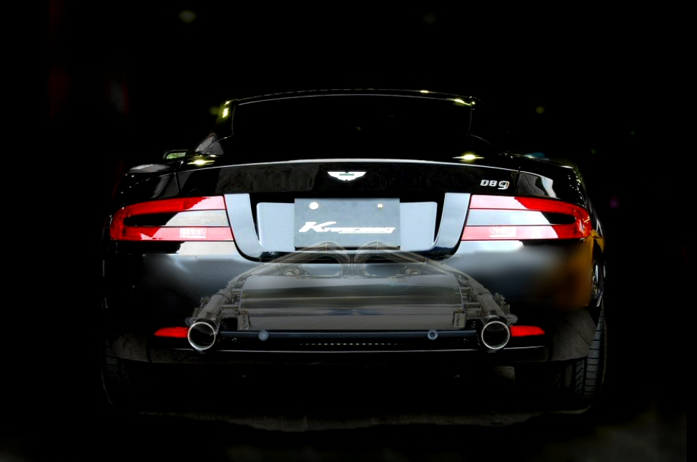 Photo1: [Aston Martin DB9 Exhaust Muffler] First Cat-back F1 Sound Valvetronic Exhaust System