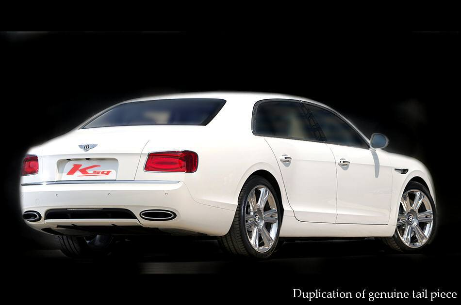 Photo1: [Bentley Flying Spur W12 Exhaust Muffler] Cat-back F1 Sound Valvetronic Exhaust System