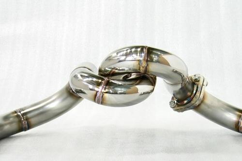Photo4: [Ferrari F355 Exhaust Muffler] Stainless Spiral-style pipe (M5.2)