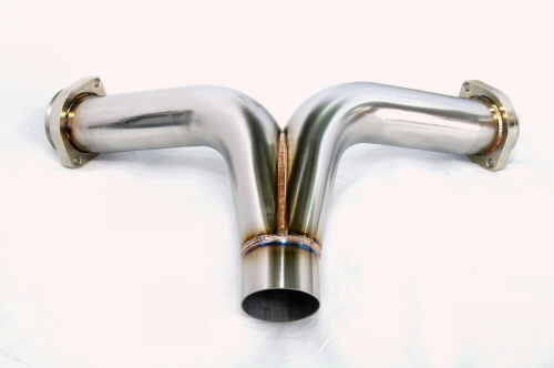 Photo3: [Ferrari F355 Exhaust Muffler] Stainless Y-style pipe (M2.7)