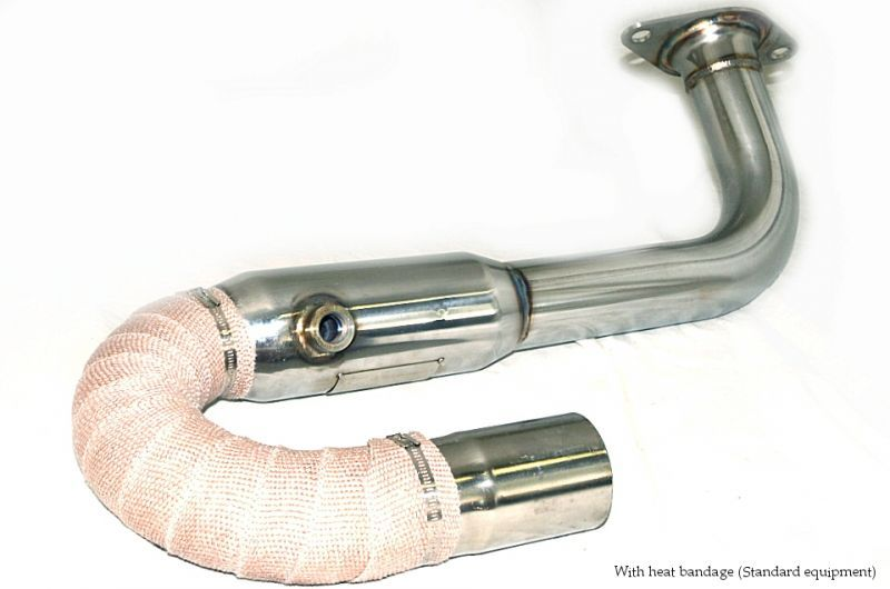 Photo1: [Lotus Elise Toyota 1ZR Exhaust Muffler] Staainless O2 Cannceller Pipe
