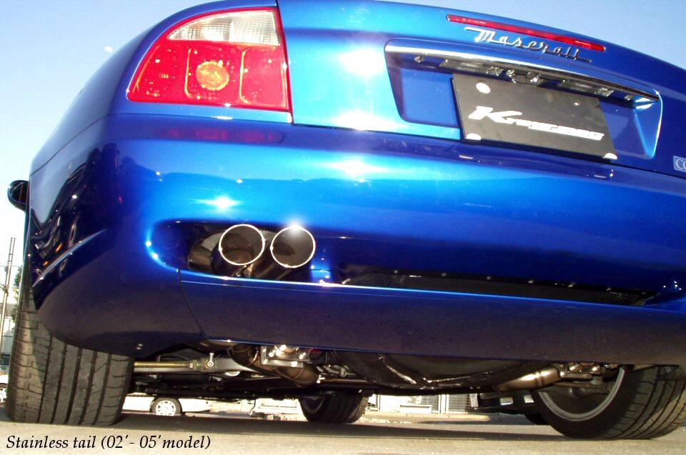 Photo1: [Maserati Coupe/Spyder Exhaust Muffler] Cat-back F1 Sound Valvetronic Exhaust System