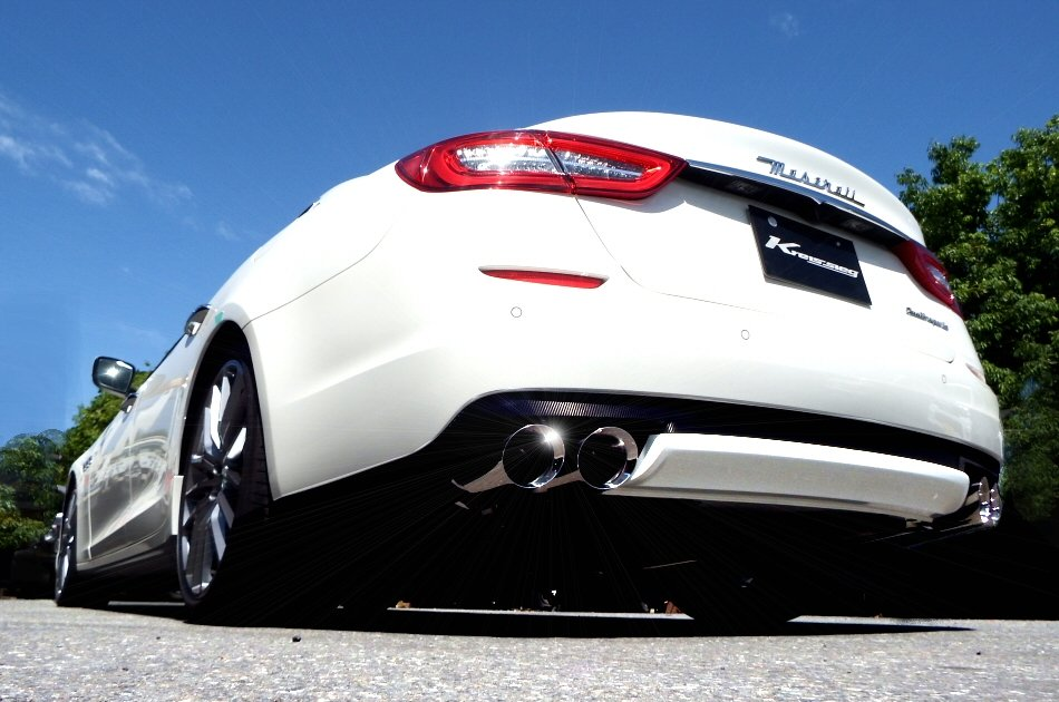 Photo1: [Maserati Quattroporte GTS Exhaust Muffler] F1 Sound Valvetronic Exhaust System
