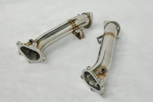Photo4: [NISSAN GT-R Exhaust Muffler] Stainless Turbine outlet Pipe