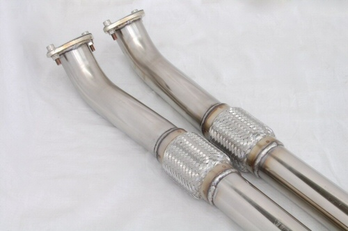 Photo2: [NISSAN GT-R Exhaust Muffler] Stainless 2in1 Front Pipe