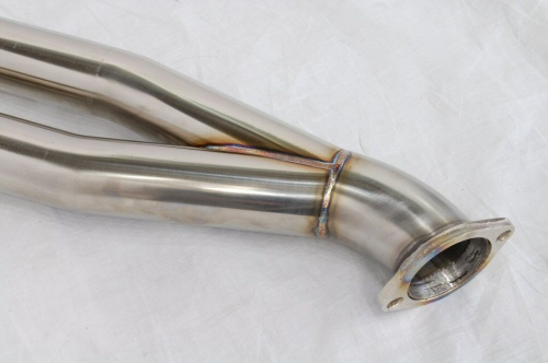 Photo3: [NISSAN GT-R Exhaust Muffler] Stainless 2in1 Front Pipe