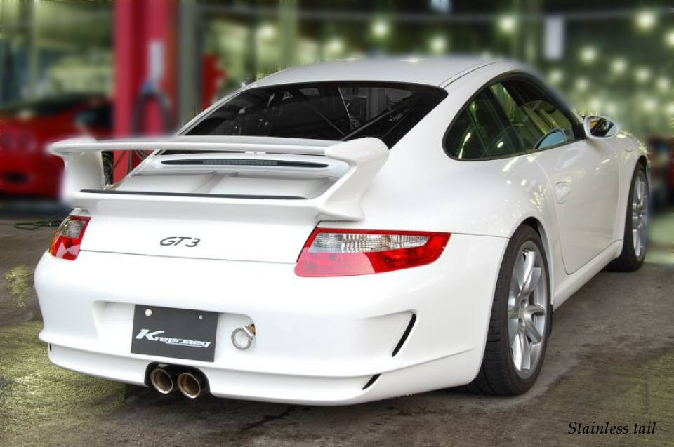 Photo1: [Porsche 997 GT3 Exhaust Muffler] First Cat-back Valvetronic Exhaust System