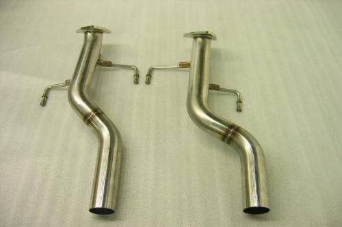 Photo1: [Porsche 955 Cayenne Exhaust Muffler]  Cat,-canceler pipe(for offroad)
