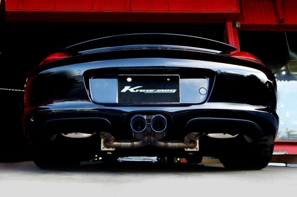Photo1: [Porsche 987 Cayman Exhaust Muffler] First Cat-back F1 Sound Valvetronic Exhaust System