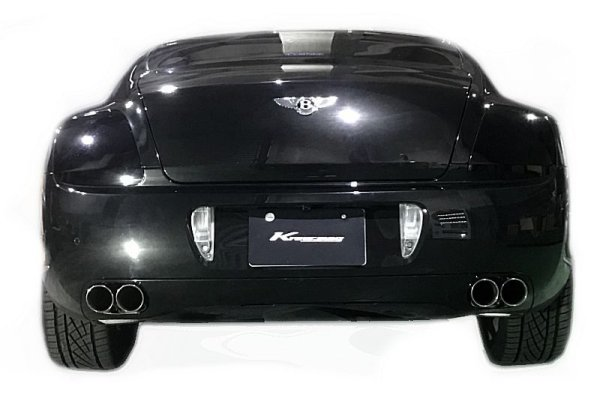 "Photo1: [Bentley Continental GT  Exhaust Muffler] Stainless floating curl tail & sand blast ""Ksg"" logo mark with First Cat-back F1 Sound Valvetronic Exhaust System Inner Wolf Ver."