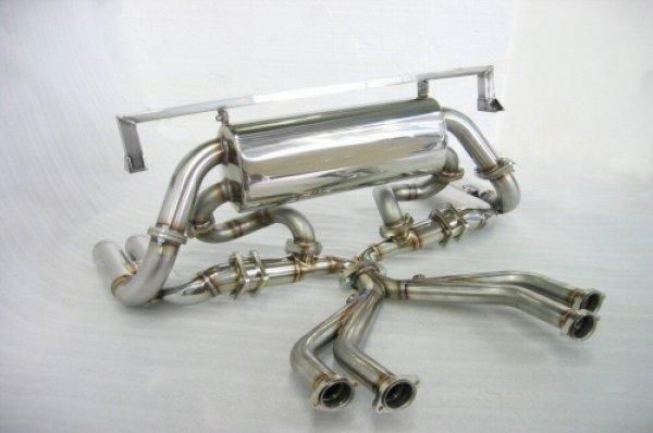 Photo2: [Ferrari Testarossa Exhaust Muffler] Cat-Back F1 Sound Exhaust System Wonder-Wolf Ver, [Stainless tail]