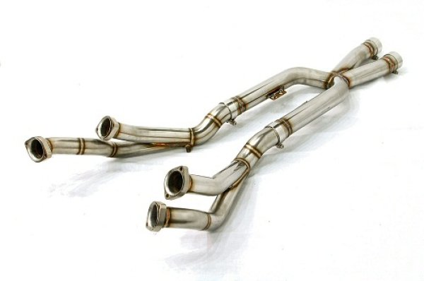 Photo2: [Ferrari 612 Exhaust Muffler] Stainless Front X-pipe