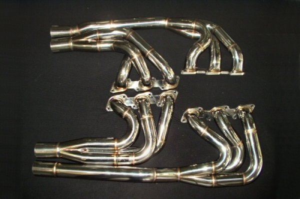 Photo1: [Lamborghini Diablo Exhaust Muffler] Stainless Headers