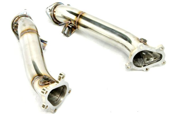 Photo1: [NISSAN GT-R Exhaust Muffler] Stainless Turbine outlet Pipe