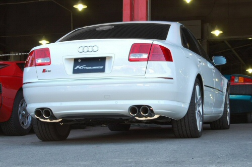 Photo1: [Audi S8 Exhaust Muffler] Cat-back F1 Sound Valvetronic Exhaust System