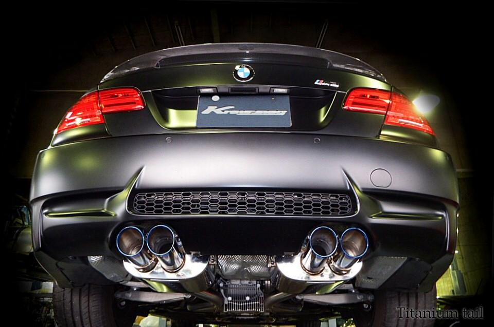 Photo1: [BMW E92 M3 Exhaust Muffler] First Cat-back F1 Sound Valvetronic Exhaust System