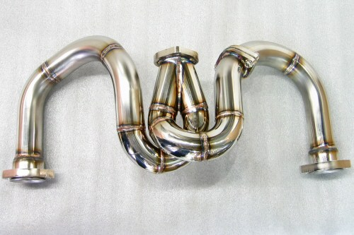 Photo1: [Ferrari F355 Exhaust Muffler] Stainless Spiral-style pipe (M5.2)