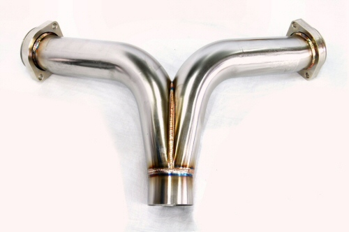 Photo1: [Ferrari F355 Exhaust Muffler] Stainless Y-style pipe (M2.7)