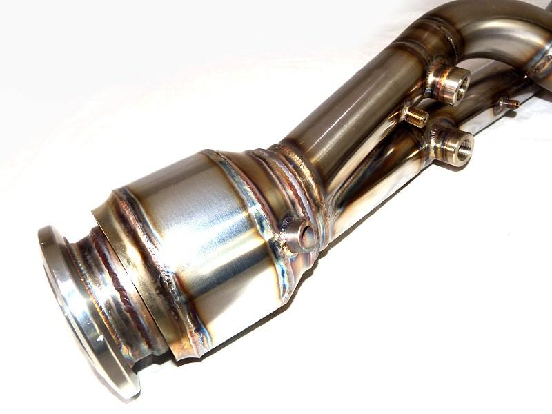 Photo4: [Lamborghini Aventador Exhaust Muffler] Stainless Catalyzer bypass pipe