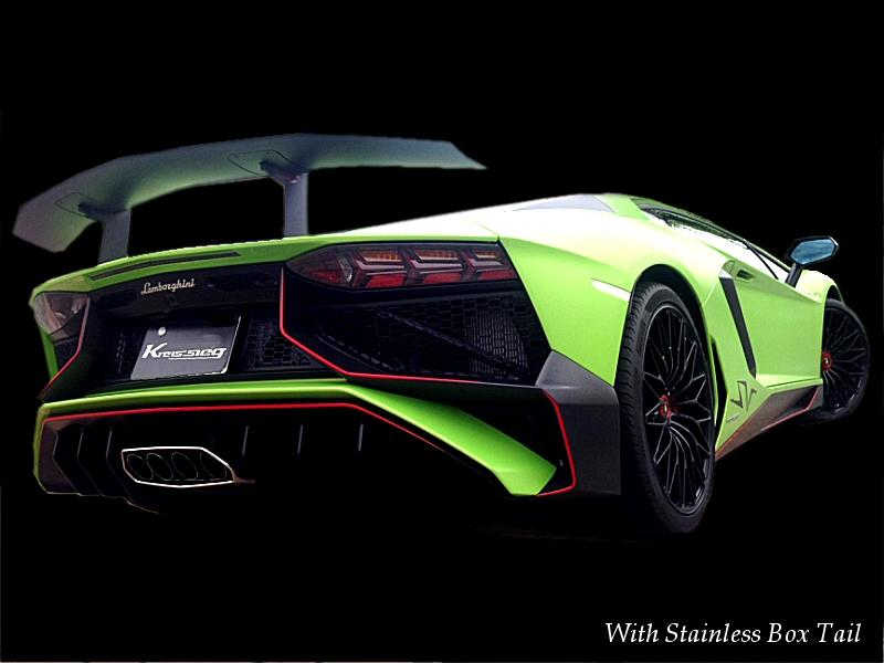 Photo1: [Lamborghini Aventador LP750-4SV Exhaust Muffler] F1 Sound Valvetronic Exhaust System Full-kit