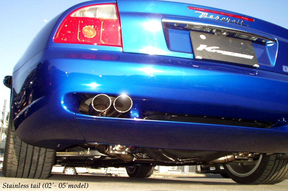 Photo1: [Maserati Coupe/Spyder Exhaust Muffler] Cat-back F1 Sound Valvetronic Exhaust System