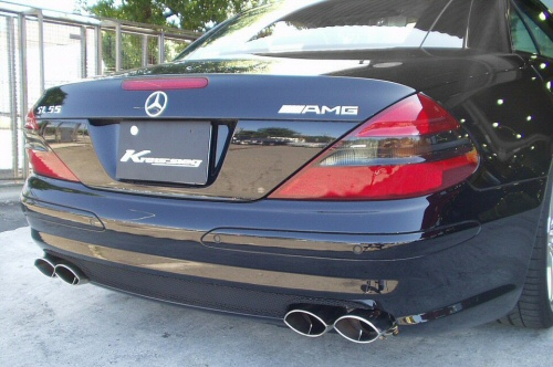 Photo1: [AMG SL55 Exhaust Muffler] W230 SL55 Cat-back F1 Sound Valvetronic Exhaust System