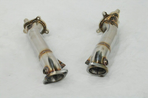 Photo2: [NISSAN GT-R Exhaust Muffler] Stainless Turbine outlet Pipe