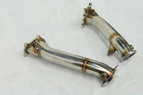 Photo3: [NISSAN GT-R Exhaust Muffler] Stainless Turbine outlet Pipe