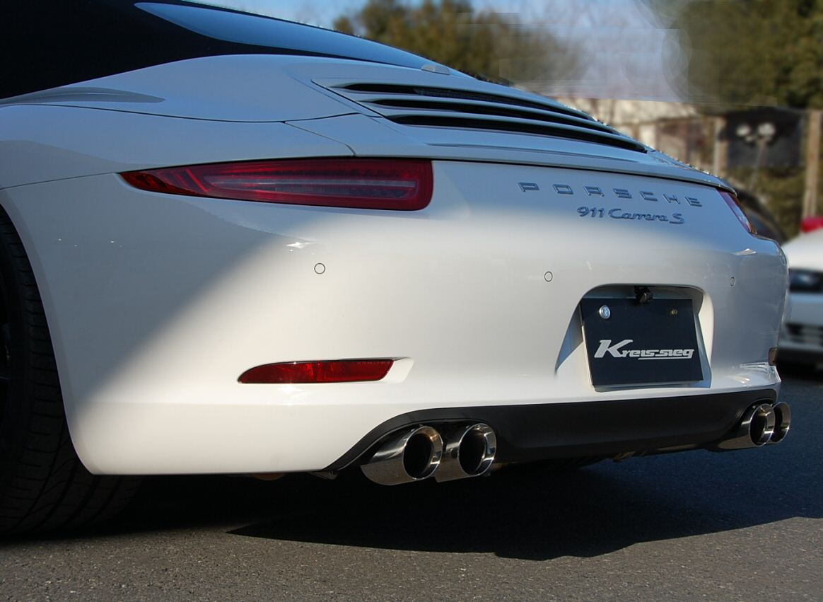 Photo1: [Porsche 991 Carrera Exhaust Muffler] First Cat-back F1 Sound Valvetronic Exhaust System